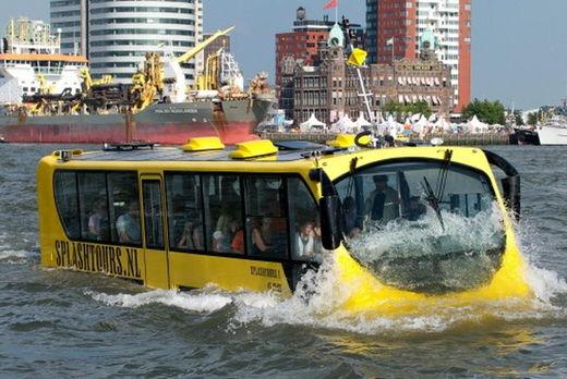 지엠아이, 관광용 수륙양용버스 선봬